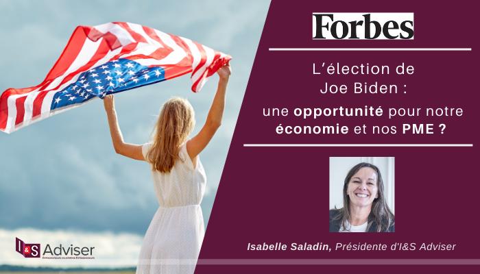 Voir l'élection de Joe Biden comme une opportunité pour notre économie et nos PME