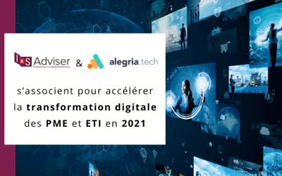 I&S Adviser et Alegria.tech s'associent pour accélérer la transformation digitale des PME et ETI en 2021