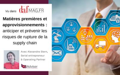 Matières premières et approvisionnements: anticiper et prévenir les risques de rupture de la supply chain