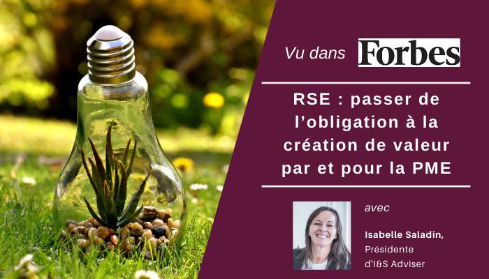 RSE : passer de l'obligation à la création de valeur par et pour la PME